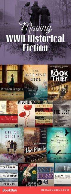 These WWII historical fiction books are worth a read. Some really moving books about people who lived during the holocaust.