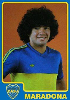 Diego Maradona of Boca Juniors in Retro Football, Football Design, Vintage Football, School Football, Football Awards, Best Football Players, Football Stadiums, American Football, Barca Real