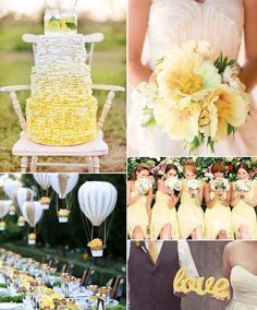 Pantone's 2015 Spring color, Custard, wedding inspiration board from Lucky in Love Wedding Planning Blog from BanquetEvent.com