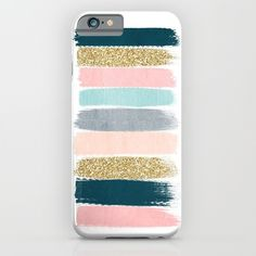 Buy Zara - Brushstroke glitter trendy girly art print and phone case for young trendy girls by CharlotteWinter as a high quality iPhone & iPod Case. Worldwide shipping available at Society6.com. Just one of millions of products available.