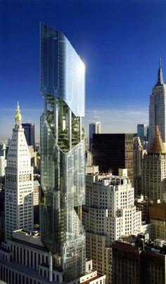 Hanging Garden Tower, NYC. Más sobre ciudades sostenibles en www.solerplanet.com