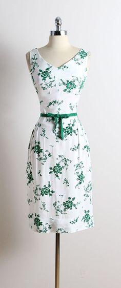 Vintage 50s dress | vintage 1950s dress | flocked linen dress m medium | 5728
