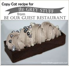 The grey stuff from Beauty and the Beast - Be Our Guest Restaurant - copy cat - Disney inspired