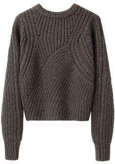Вязание модного пуловера спица