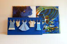Dressing bleu et or créé par Estampapier. Vendu 18€