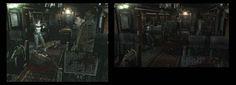 Bio Hazard 0 HD Remastered - GameCube à gauche - HD Remastered à droite
