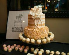 the cupcake collection nashville, cake sketch keepsake, unique wedding memory, @thecupcakecollection #nashville wedding keepsake