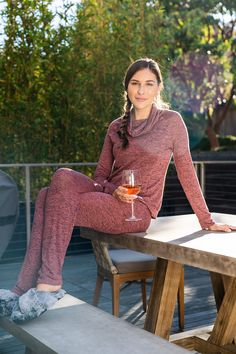 DM Merchandising's Hello Mello: Cowl Neck Top & Drawstring Pants, These incredibly comfortable tops and pants look amazing as separates and even better together. Cowl Neck Top, Drawstring Pants, Better Together, Separates, Amazing, Tops, Fashion, Moda, Fashion Styles