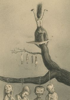 Alfred Kubin (Austrian, 1877 – 1959)  The Witch (Die Hexe), 1900   India ink and wash on cadastral paper,  39,5 x 31,7 cm  Oberösterreichische Landesmuseum in Linz, Austria