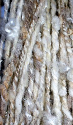 """handspun """"wild"""" wool - haven't done this kind of thing in a while..."""