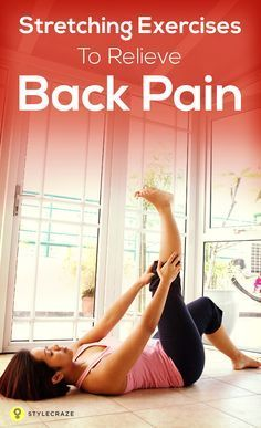 Stretching Exercises To Relieve Back Pain: Exercising is not something you would like to do when you experience severe back pain right? But it is the most effective remedy for back pain and far better than pain-killer pills. Stretching exercises are ef Severe Back Pain, Upper Back Pain, Lower Back Exercises, Stretching Exercises, Stretches, Qi Gong, Headache Relief, Back Pain Relief, Pranayama