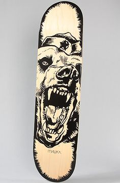 Mishka The Oversize Beast Skate Deck in Natural Veneer : Karmaloop.com - Global Concrete Culture
