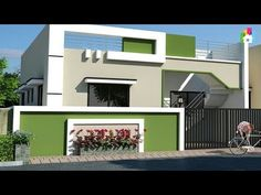 Most beautiful small house front elevation designs House Front Wall Design, Single Floor House Design, Exterior Wall Design, Village House Design, Exterior House Colors, House Wall, Independent House, Front Elevation Designs, House Elevation