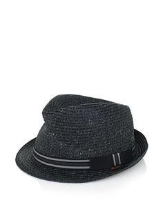 42% OFF Ben Sherman Men's Variegated Straw Trilby (Black)