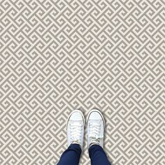 Maze design's geometric motif is destined to add a dash of Scandi hygge style to any room. Stone Flooring, Vinyl Flooring, Maze Design, Geometric Lines, Kitchen Ideas, Cool Stuff, Green, Modern, Style