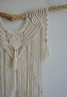 Macrame Wall Hanging Large Modern pattern knots tassels