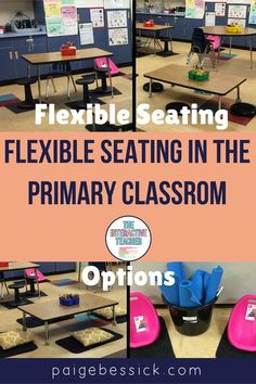 Flexible Seating in the Primary Classroom-A great blog post that includes tips, tricks, and ideas for seating options, organization, and set up. It's perfect for kindergarten, first and second grade school teachers. A must-read if you are thinking about implementing flexible seating in your classroom. You'll love these easy and budget friendly flexible seating tips and ideas. #flexibleseating #primaryclassroom #firstgrade #1stgrade
