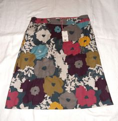 White Stuff - Multi colour print skirt