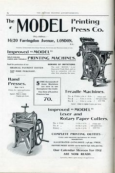 size: Giclee Print: 'The Model Printing Press Co. Moveable Type, Digital Text, Types Of Printing, Printing Press, Graphic Design Typography, History Books, Letterpress, Layout Design, Find Art