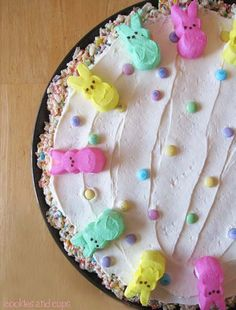 Rice Krispie Treat  & Peeps Pizza #PeepsFan