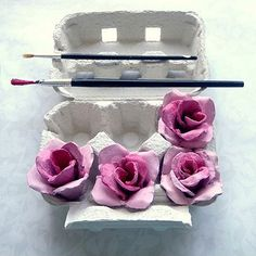 upcycling crafts for easter | sublimely beautiful and elegant hand painted roses, perfect for a ...