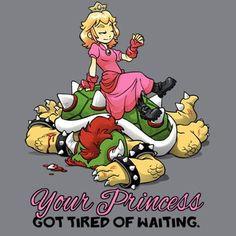 Así fue como #peach paso de ser una damisela esperando ser recatada a una anfitriona en #supersmashmelee  . So you better hurry and safe the princess! Otherwise #bowser could pay the price!! . #supermario #mariobros #yourprincessisinanothercastle #mushroomkingdom #instafun #nintendo #nintendofan #nintendero #sectorn #videojuegos #videogames #girlpower By DoOomcat