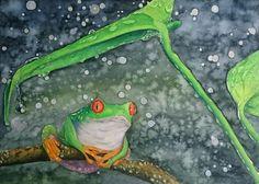 Las supersticiones y las tradiciones sin fundamento suelen ser la base de muchas injusticias Journal Entries, Frogs, Traditional Art, Watercolour Painting, Grinch, All Art, Baby Animals, Deviantart, Japan