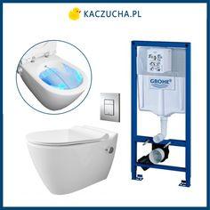 W jednym urządzeniu wc i bidet.  Przygotowaliśmy dla Państwa kompletny zestaw ze stelażem podtynkowym Grohe, gotowy do montażu. Używaj w toalecie wody zamiast szorstkiego papieru! Twoja codzienna higiena osobista na najwyższym poziomie. Jest to idealne rozwiązanie dla małych pomieszczeń. Cena: 2751 zł  Salon łazienek i sklep internetowy www.kaczucha.pl info@kaczucha.pl ul. Wronia 3 (za pawilonem Czerwona Torebka) 71-221 Szczecin Cosmopolitan, Toilet, Bathroom, Phone, Simple Lines, Washroom, Flush Toilet, Telephone, Full Bath