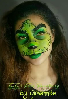 Dr. Seuss How the Grinch Stole Christmas Face paint idea
