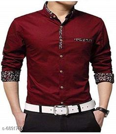 Checkout this latest Shirts Product Name: *New Attractive Men's Shirt* Fabric: Cotton Sleeve Length: Long Sleeves Pattern: Solid Multipack: 1 Sizes: M (Chest Size: 38 in, Length Size: 27 in)  L (Chest Size: 40 in, Length Size: 28 in)  Easy Returns Available In Case Of Any Issue   Catalog Rating: ★4 (3366)  Catalog Name: New Attractive Men's Shirt CatalogID_1100266 C70-SC1206 Code: 544-6891715-3411