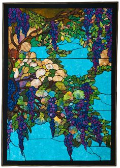 Wisteria by Mark Sherman.  Part of  the Collection of The National Quilt Museum.