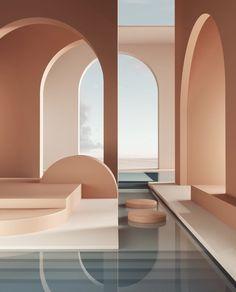 Minimalist Architecture, Interior Architecture, Interior And Exterior, Colour Architecture, Arch Interior, Universidad Ideas, Ästhetisches Design, 3d Interior Design, 2020 Design