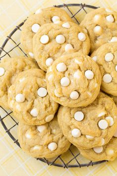 Lemon White Chocolate Chip Cookies - these are seriously delicious! So lemony and soft and perfectly chewy. A favorite use for lemons.