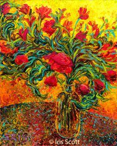Finger Painting is Now Fine Art. Iris Scott - HOME