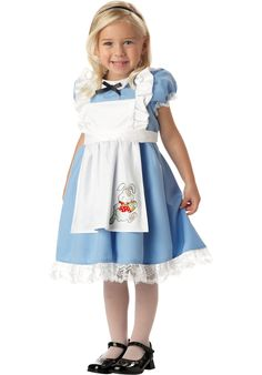 This cute Lil' Alice In Wonderland Costume for toddlers is a great choice for a themed fancy dress party or for a World Book Day event.