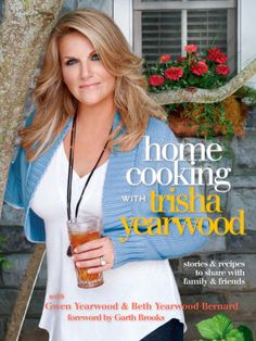 Assorted recipes from Trisha Yearwood (breakfast bowl, key lime cake, crockpot chocolate candy, stuffed bell peppers, & crunchy slaw)