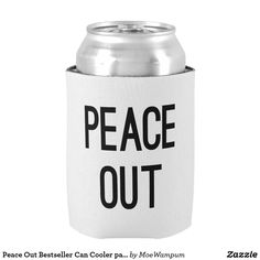 Peace Out Bestseller Can Cooler party fun