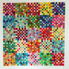 The first 25 blocks = postage stamps. It didn't seem like that many when I was sewing them. Scrappy Quilt Patterns, Scrappy Quilts, Baby Quilts, Strip Quilts, Patch Quilt, Postage Stamp Quilt, Postage Stamps, Colorful Quilts, Traditional Quilts
