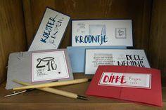 Linda's handgemaakte kaarten en juweeltjes: Kalligrafie