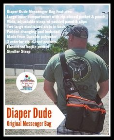 Diaper Dude Original Messenger Bag #Review