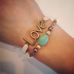 Love bracelet set by AroundMyWrist on Etsy Mothers Day