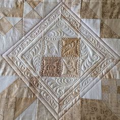 one block by Suzanne Earley (quilting on point)