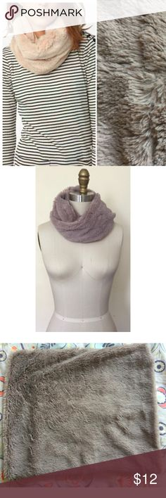 Cooperative Ultra Plush Snood Scarf Very soft and cozy infinity scarf. Taupe color. Urban Outfitters Accessories Scarves & Wraps