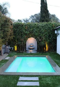 courtyard pool  so nice, not so large that its too expensive, perfect size for sunbathing, meditating etc