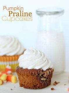 Pumpkin Praline Cupcakes - Confessions of a Cookbook Queen