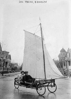 Sail Wagon, Brooklyn NY, circa 1900