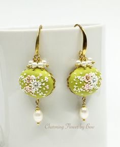 A personal favorite from my Etsy shop https://www.etsy.com/listing/261186952/flower-green-light-clay