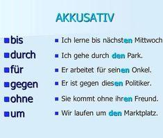 Deutsch Lernen Vorschule – Rebel Without Applause Study German, Learn German, Learn English, German Grammar, German Words, Akkusativ Deutsch, German Resources, Deutsch Language, Germany Language