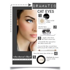 """WHO DOESN'T LIKE DRAMATIC CAT EYES?"" by leilagoncalves on Polyvore"