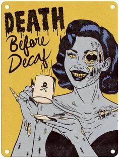 Jenny Richardson -A Horrific Treat - x Metal Print – Rusty Walls Sign Shop Arte Horror, Horror Art, Halloween Art, Vintage Halloween, Death Before Decaf, Horror Photos, Halloween Wallpaper Iphone, Monster Drawing, Vintage Horror